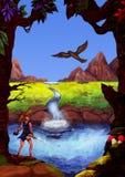 Mundo da fantasia bonito (J A sequência ideal do cinza, 2010) Imagens de Stock Royalty Free