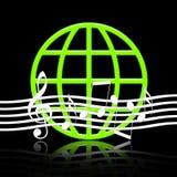 Mundo da música Foto de Stock Royalty Free