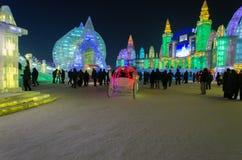 Mundo da neve do gelo em harbin, 2014 Fotos de Stock