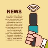 Mundo da notícia liso Fotos de Stock