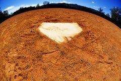 Mundo da placa home do basebol Fotografia de Stock