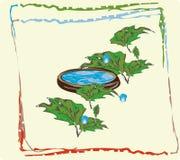 Mundo da planta a água na embarcação ilustração royalty free