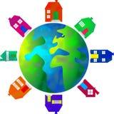 Mundo da propriedade ilustração stock