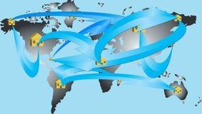 Mundo da rede Imagens de Stock Royalty Free