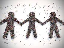 Mundo da solidariedade rendição 3d Imagem de Stock