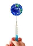 Mundo da vacinação Fotos de Stock