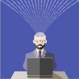 Mundo das tecnologias da informação Estilo liso ilustração stock