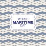 Mundo day1 marítimo ilustração stock