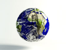 mundo de 100 dólares Fotografia de Stock Royalty Free
