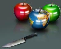Mundo de Apple Foto de Stock