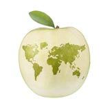 Mundo de Apple Imagem de Stock