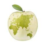 Mundo de Apple Fotos de Stock Royalty Free