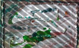 Mundo de Baba Yaga blanco-verde imágenes de archivo libres de regalías