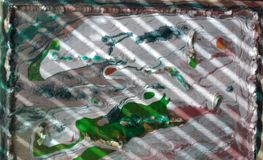 Mundo de Baba Yaga branco-verde imagens de stock royalty free