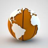Mundo de Baketball Fotografia de Stock Royalty Free
