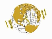 Mundo de circulação do dólar. Fotos de Stock Royalty Free