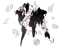 Mundo de computador Fotografia de Stock Royalty Free