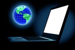 Mundo de computador Imagens de Stock Royalty Free