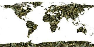 Mundo de contas de dólar Fotografia de Stock