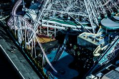 Mundo de Cosmo visível da torre do marco de Yokohama fotos de stock
