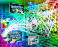 Mundo de dígitos Foto de archivo libre de regalías