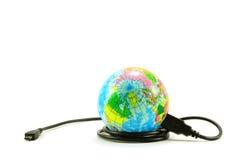 Mundo de Digitaces Foto de archivo