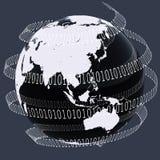 Mundo de Digitaces Fotografía de archivo