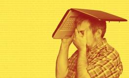 Mundo de Digitaces Problemas con el ordenador imagen de archivo libre de regalías