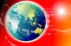 Mundo de Digitas Imagem de Stock