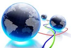 Mundo de Digitas Fotografia de Stock