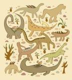 Mundo de dinosaurios Imagenes de archivo