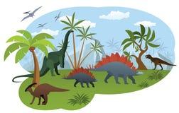 Mundo de dinosaurios Fotografía de archivo libre de regalías