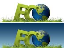 Mundo de Eco Imagem de Stock