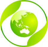 Mundo de Eco Imagens de Stock Royalty Free