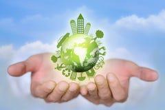 Mundo de Eco Fotografia de Stock Royalty Free