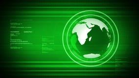 Mundo de HD Digitaces con el globo. ilustración del vector