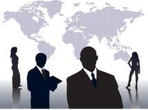 Mundo de hombres de negocios Foto de archivo libre de regalías