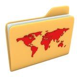 Mundo de la carpeta Fotografía de archivo libre de regalías