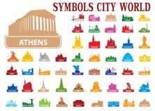 Mundo de la ciudad de los símbolos libre illustration