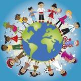 Mundo de la familia ilustración del vector