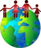 Mundo de la familia stock de ilustración
