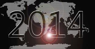 Mundo de la Feliz Año Nuevo stock de ilustración