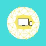 Mundo de la idea social de la red Imágenes de archivo libres de regalías