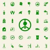 mundo de la muestra e icono verde del árbol sistema universal de los iconos de Greenpeace para el web y el móvil libre illustration