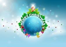 Mundo de la Navidad stock de ilustración