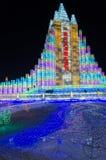 Mundo de la nieve del hielo en Harbin, 2014 Imágenes de archivo libres de regalías