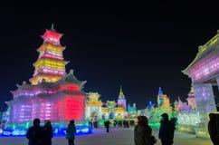 Mundo de la nieve del hielo en Harbin, 2014 Imagen de archivo libre de regalías