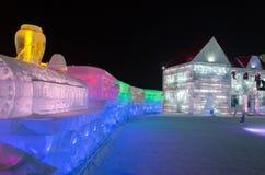 Mundo de la nieve del hielo en Harbin, 2014 Fotos de archivo