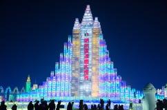 Mundo de la nieve del hielo en Harbin, 2014 Imagen de archivo