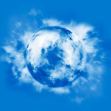 Mundo de la nube Foto de archivo libre de regalías